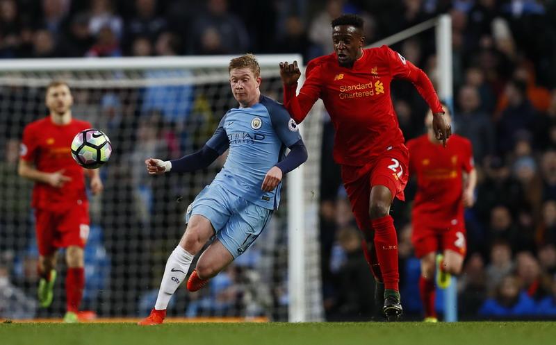 De Bruyne tampil brilian saat Man City menahan Liverpool 1-1. (Foto: REUTERS/Jason Cairnduff)