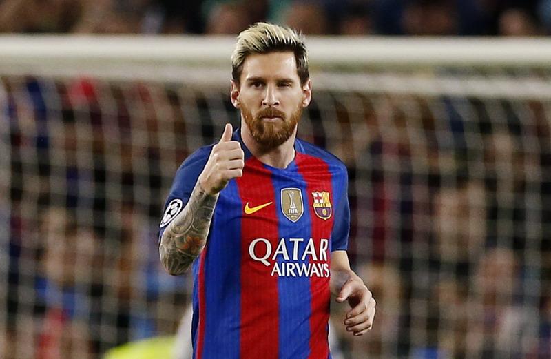 Messi top skor sementara Liga Spanyol. (Foto: REUTERS/Albert Gea)