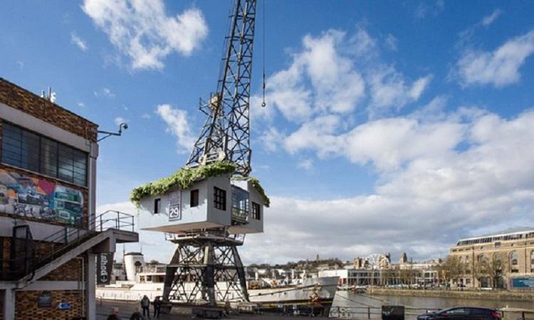 \Berada di Atas Crane, Rumah Pohon Ini Berikan Pengalaman Tidak Biasa\