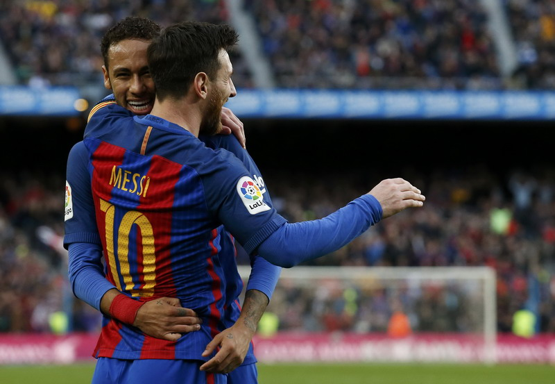 Man City pede datangkan Messi. (Foto: REUTERS/Albert Gea)