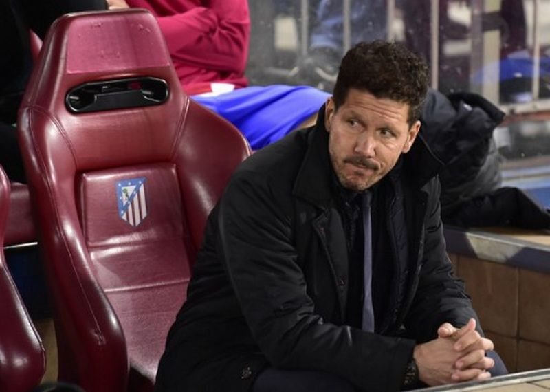 Pelatih Atletico Madrid, Diego Simeone (Foto: Gerard Julien / AFP)