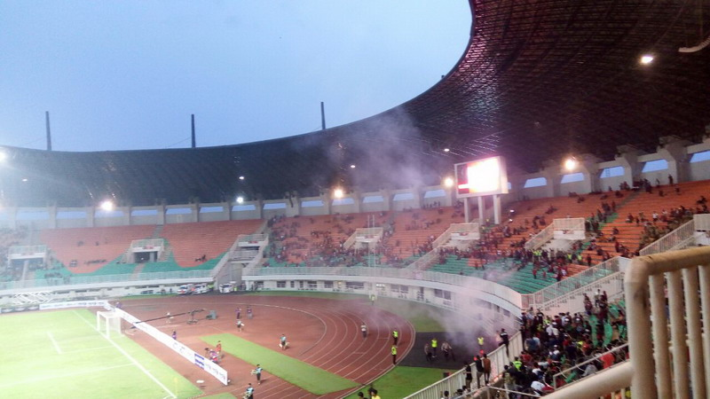 Pertandingan Indonesia vs Myanmar (Foto: Deden Rochman Saputro/Okezone)
