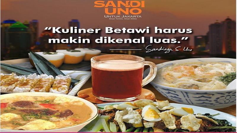 Sandiaga Uno Bicara soal Pelestarian Kuliner Betawi, Ini Gebrakannya