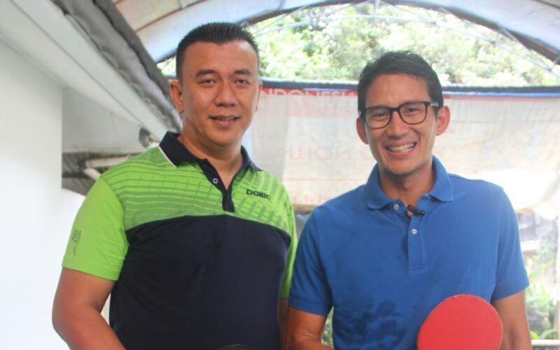 Sandiaga Uno dan Anton Suseno (kiri) (Foto: Twitter pribadi Sandiaga Uno)