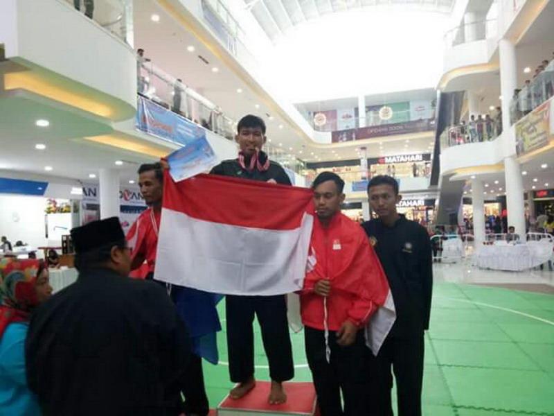Pesilat Sumsel raih emas di turnamen silat internasional. (Foto: Istimewa)