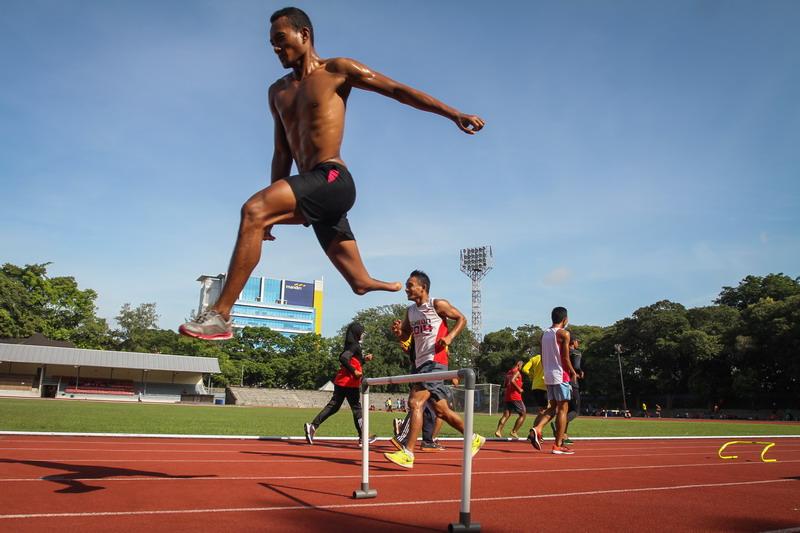 Atletik ambil bagian di ISG 2017. (Foto: ANTARA/Mohammad Ayudha)