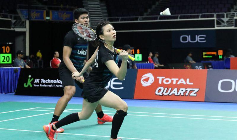 Ganda campuran Indonesia, Praveen Jordan/Debby Susanto di Singapura Open 2017 (Foto: PBSI)