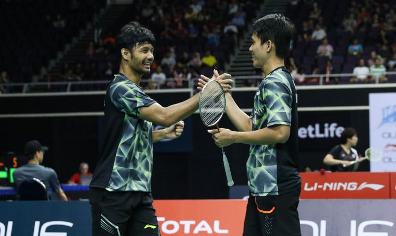 Ganda putra Indonesia, Berry Angriawan/Hardianto di Singapura Open 2017 (Foto: PBSI)