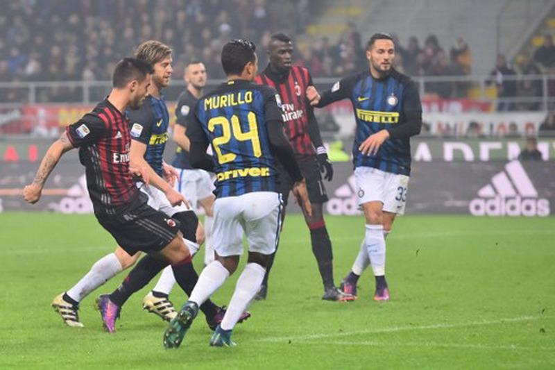 Suso saat membobol gawang Inter di pertemuan pertama. (Foto: AFP/Giuseppe Cacace)