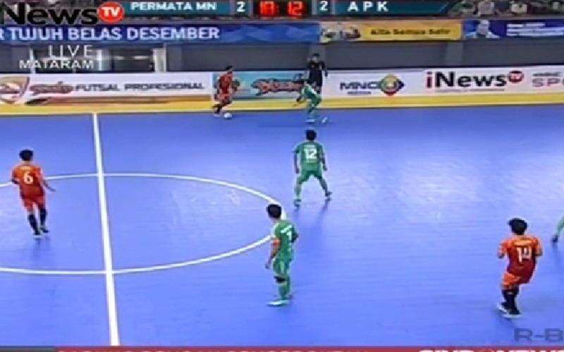 Permata Manokwari saat berhadapan dengan APK FC di pertemuan pertama. (Foto: Okezone)