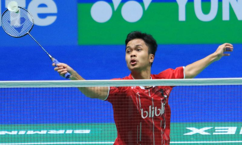 Tunggal putra Indonesia, Anthony Sinisuka Ginting (Foto: PBSI)