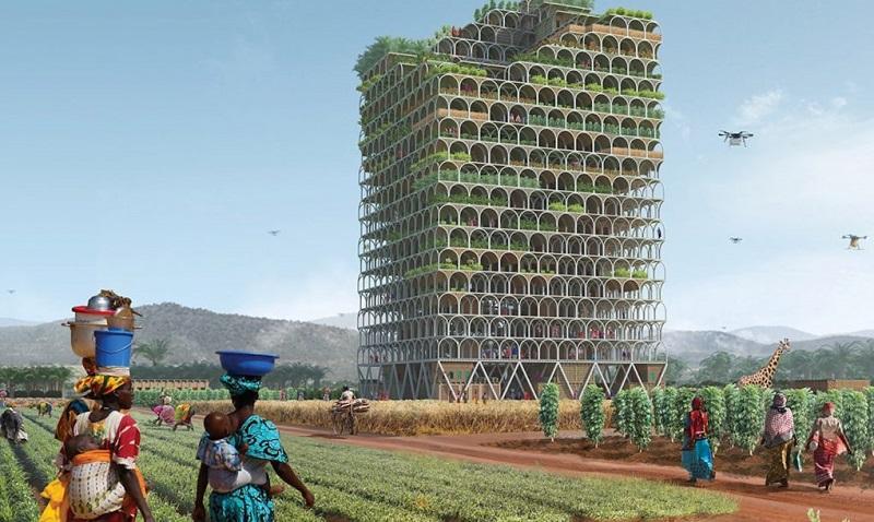 \Atasi Persoalan Pangan, Arsitek Ini Rancang Gedung Vertikal untuk Bertani\