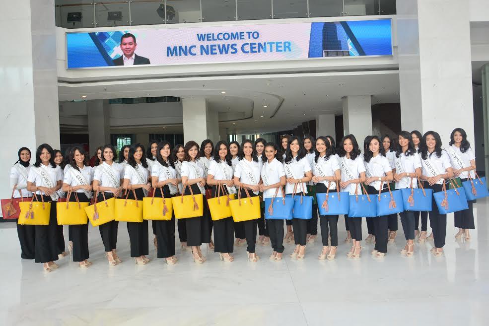 MISS INDONESIA 2017: Antusias 34 Finalis Miss Indonesia 2017 saat Kunjungan ke MNC Media