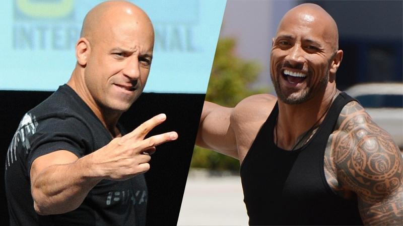 Vin Diesel dan Dwayne Johnson. (Foto: Variety)