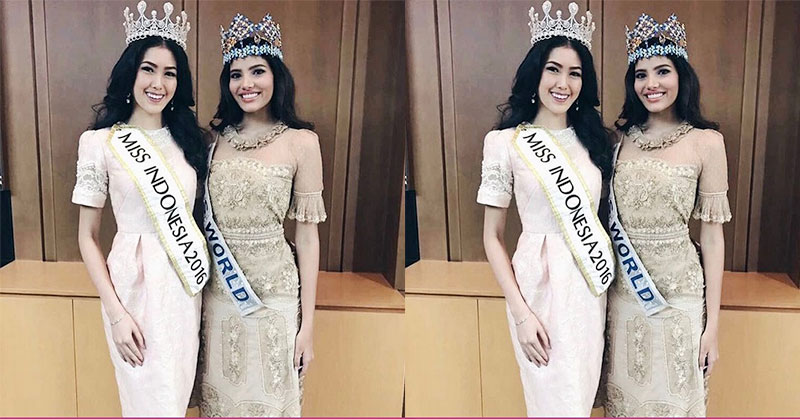 MISS INDONESIA 2017: Natasha Mannuela Senang Bertemu Stephanie Del Valle Lagi