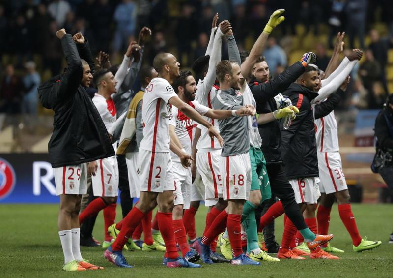 Monaco miliki rekor seimbang kontra Madrid. (Foto: REUTERS/Eric Galliard)