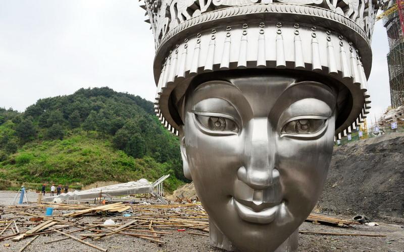 Wih Keren, China Bangun Patung Raksasa Dewi