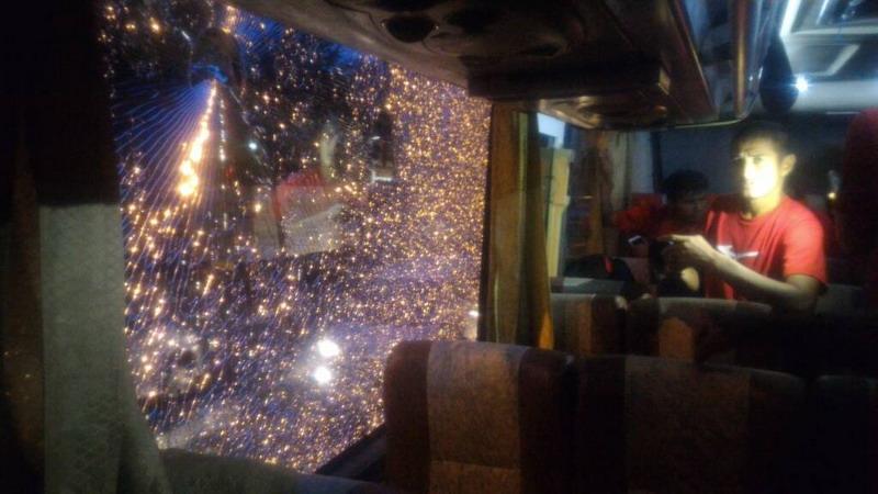 Kondisi bus Semen Padang. (Foto: Istimewa)