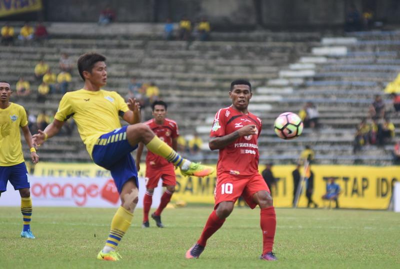 Vendry Mofu bintang kemenangan Semen Padang. (Foto: ANTARA/M Risyal Hidayat)