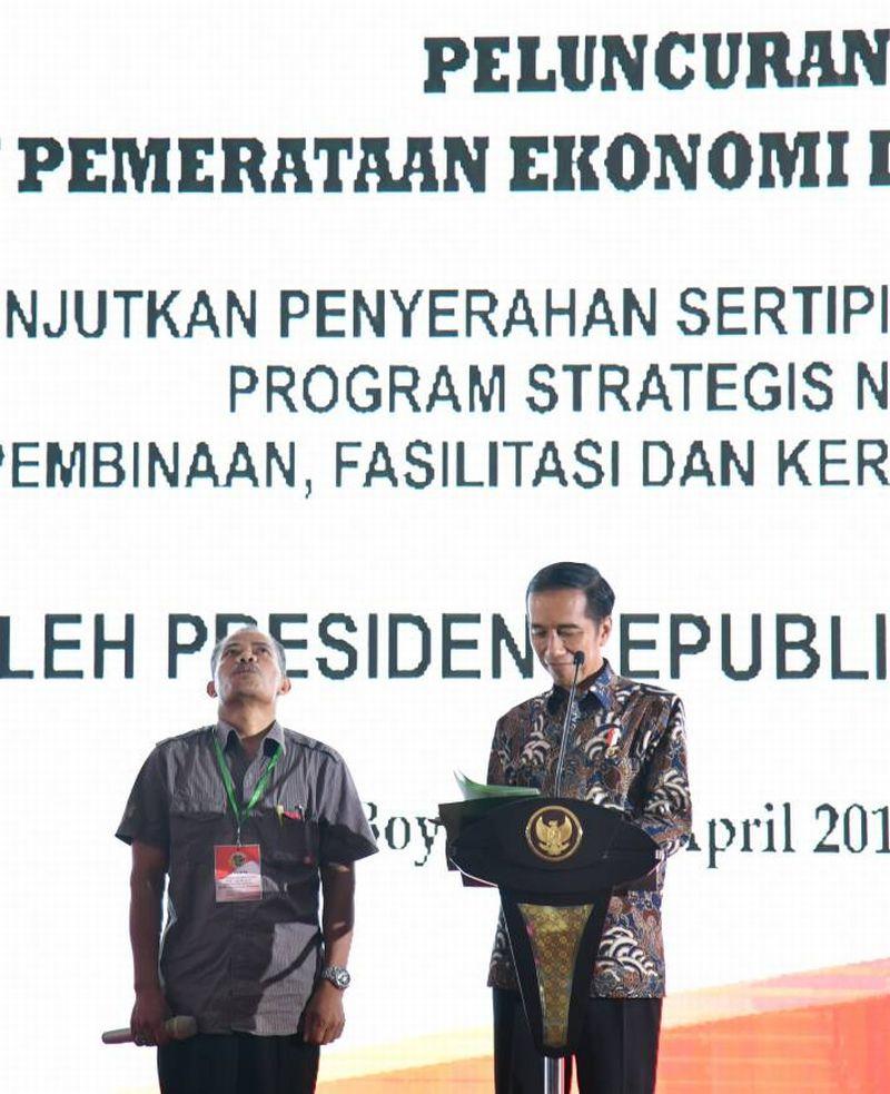 \Jokowi Ingin Reforma Agraria Tingkatkan Jumlah Lahan Produktif\