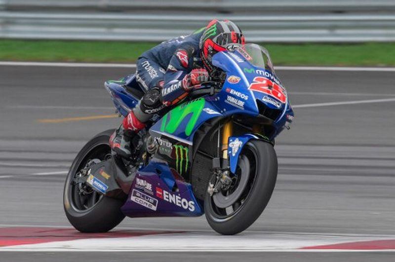 Pembalap Tim Movistar Yamaha, Maverick Vinales (Foto: AFP / Mohd Rasfan)