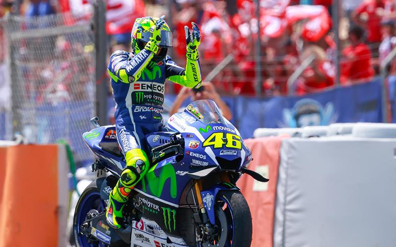 Valentino Rossi. (Foto: Twiiter MotoGP)