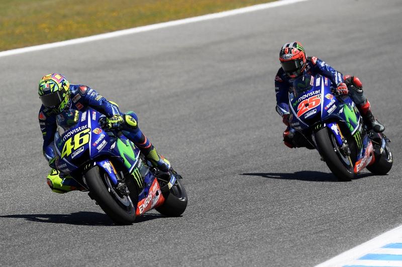 Duo Yamaha, Valentino Rossi dan Maverick Vinales. (Foto: YamahaMotoGP)