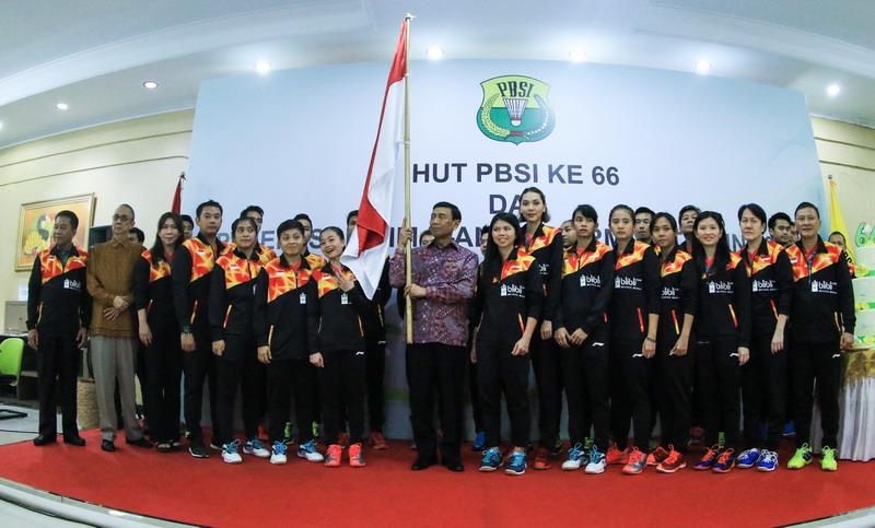 Tim inti Piala Sudirman 2017 (Foto: PBSI)