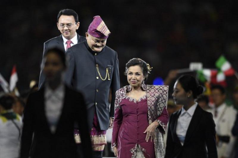 Alex Noerdin pimpin kontingen Indonesia di ISG 2017. (Foto: AFFP/Martin Bureau)