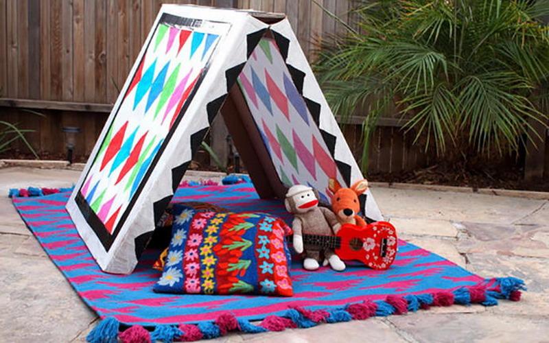 Serunya Bikin Tenda Colorful dari Kardus untuk Anak-Anak