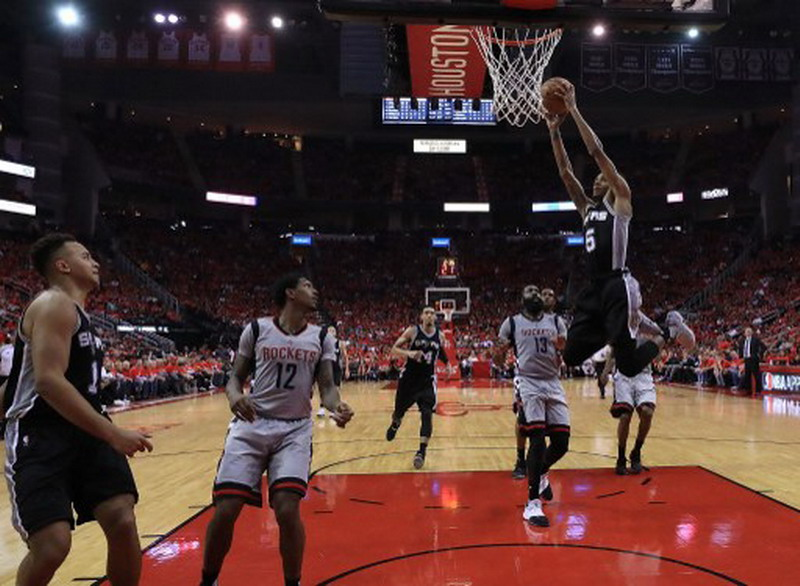 San Antonio Spurs lolos ke final wilayah barat NBA. (Foto: AFP/Ronald Martinez)