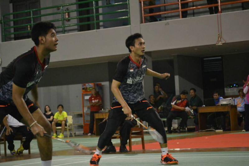 Simulasi Piala Sudirman 2017 bagi Tim Indonesia di Pelatnas Cipayung, Jakarta (Foto: Okezone / Bagas Abdiel)