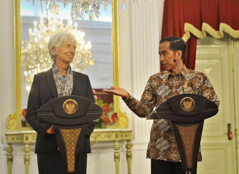 \Kala Jokowi dan Lagarde Bicara soal Pertemuan IMF-World Bank hingga ASEAN\