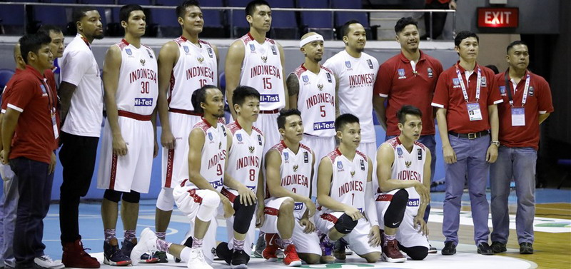 Timnas Basket Indonesia (Foto: Laman Resmi FIBA)