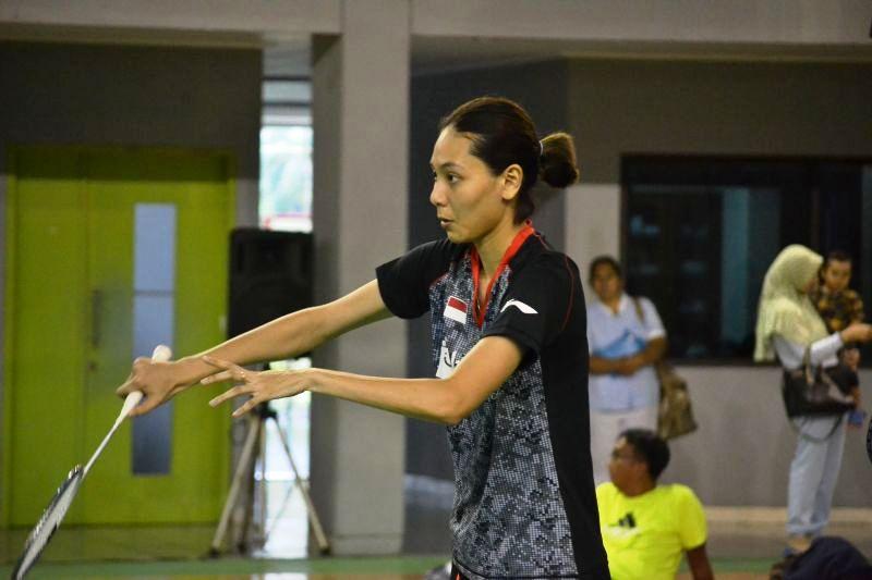 Penampilan Gloria Emanuelle Widjaja di Simulasi Piala Sudirman mendapat komentar dari Tontowi Ahmad (Foto: Bagas Abdiel/Okezone)