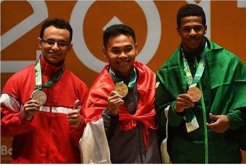 Eko Yuli Wirawan menyumbangkan emas kembali bagi Indonesia di Islamic Solidarity Games 2017 (Foto: Instagram resmi ISG 2017)