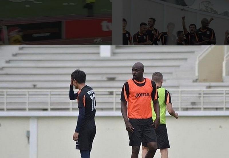 Sissoko saat berlatih bareng Mitra Kukar. (Foto: Instagram Sissoko)