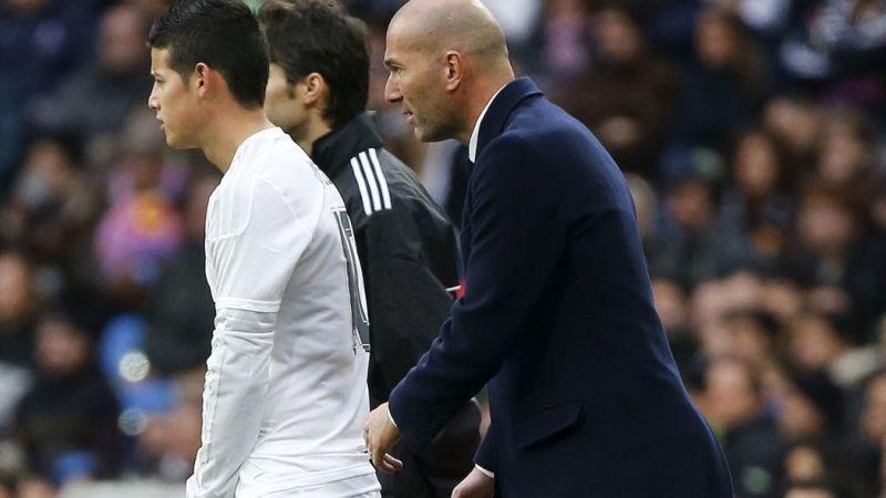 James Rodriguez dan Zidane. (Foto: The National)