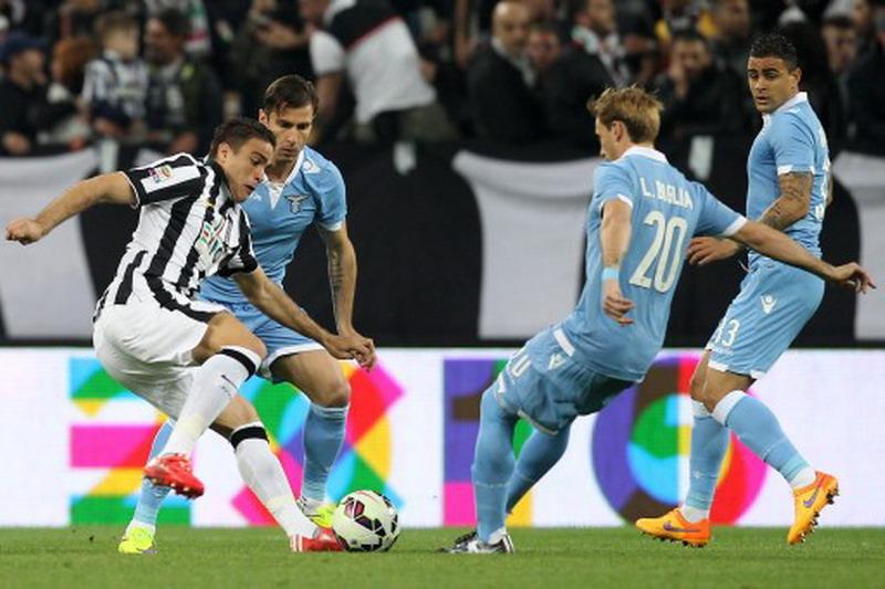 Matri cetak gol kemenangan Juventus. (Foto: AFP/Marco Bertorello)