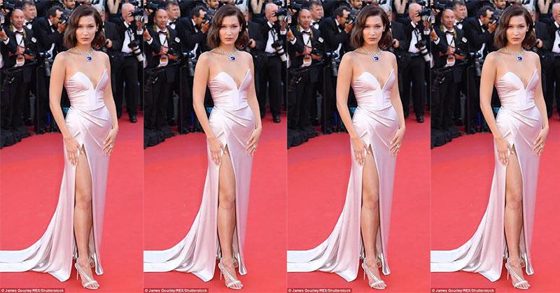 Oops.. Bella Hadid Pamer Celana Dalam di Red Carpet Festival Film Cannes