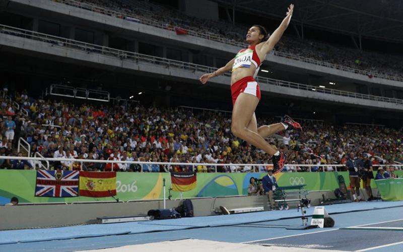 Maria Londa akan tampil di cabor lompat jauh putri di ISG 2017 hari ini (Foto: AFP)