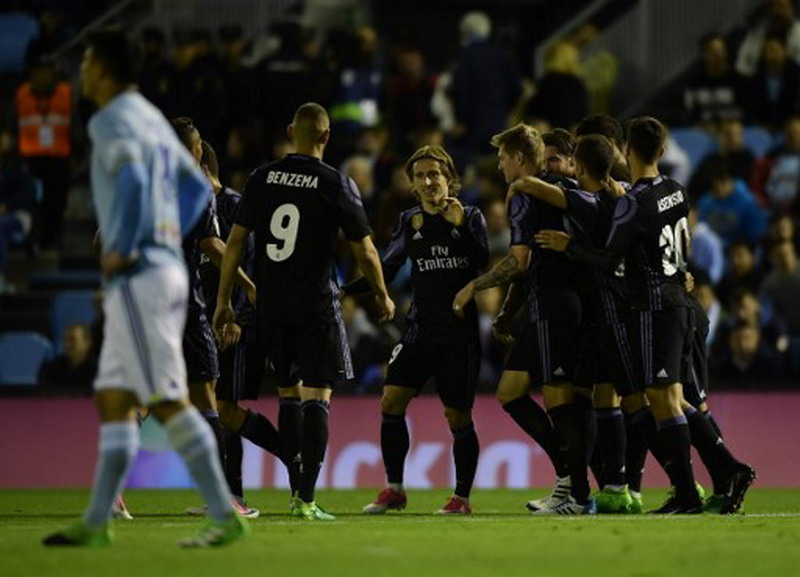 Madrid saat mengalahkan Celta 4-1. (Foto: AFP/Miguel Riopa)