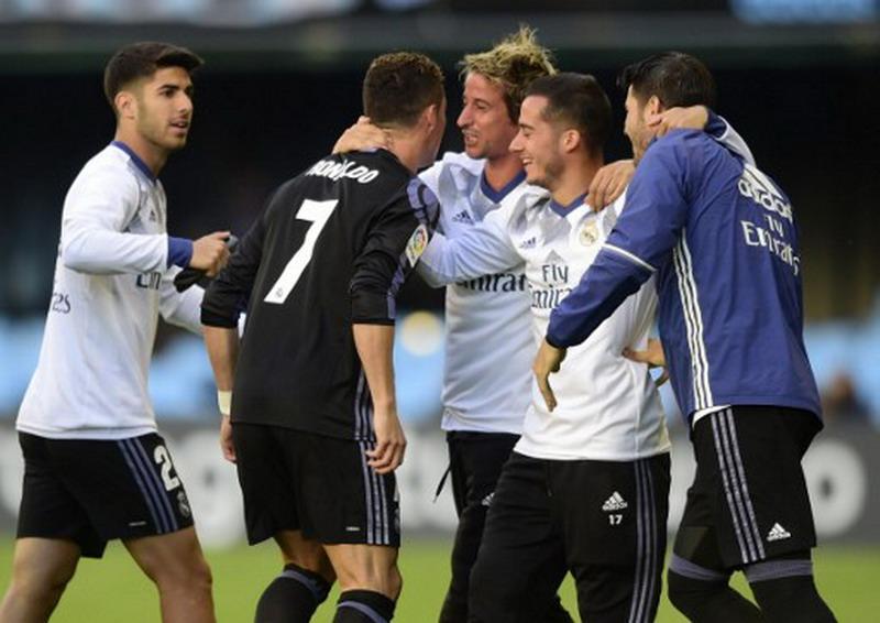Ronaldo ingin bawa Madrid juara Liga Spanyol. (Foto: AFP/Miguel Riopa)