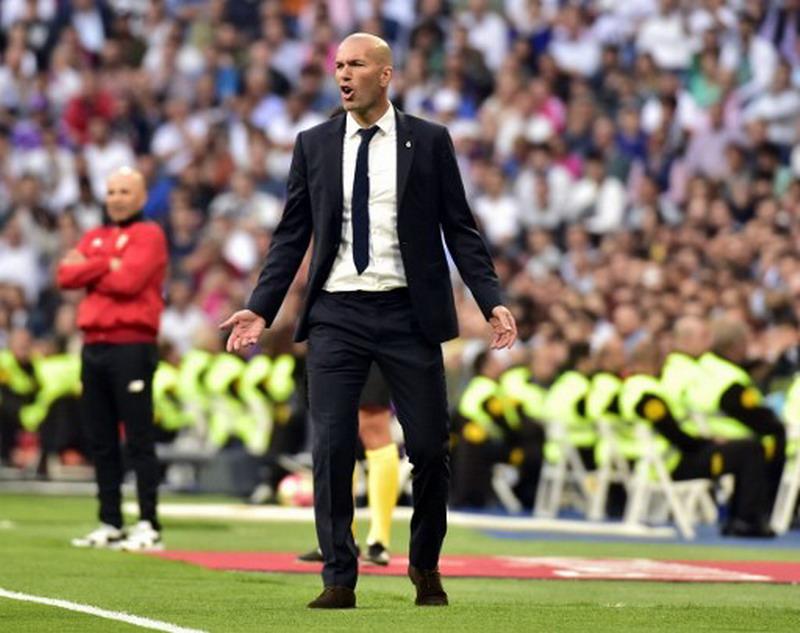 Zidane fokus ke laga kontra Malaga. (Foto: AFP/Gerard Julien)