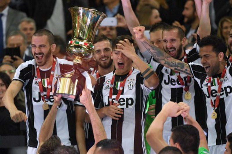 Juventus juara Coppa Italia 2016-2017. (Foto: AFP/Andreas Solaro)