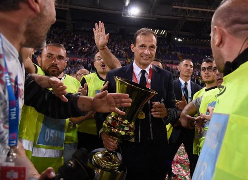 Allegri superior di Coppa Italia. (Foto: AFP/Fillipo Monteforte)