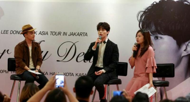 Lee Dong Wook (tengah) (Foto: Lidya/Okezone)