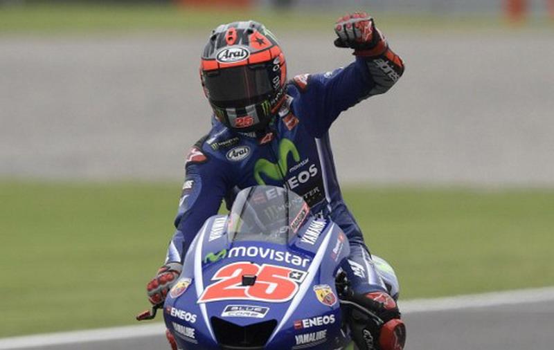 Maverick Vinales optimis di GP Prancis (Foto: Juan Mabromata/AFP)