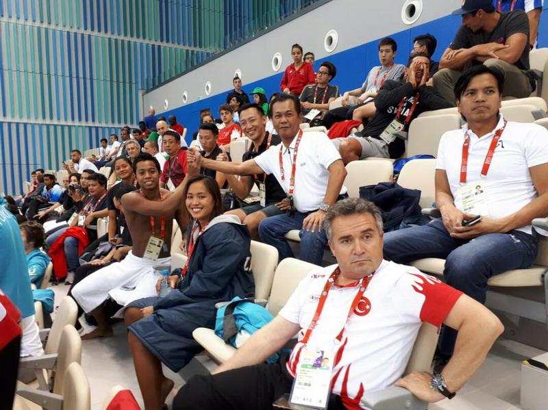Muddai Madang di venue ISG 2017. (Foto: Istimewa)