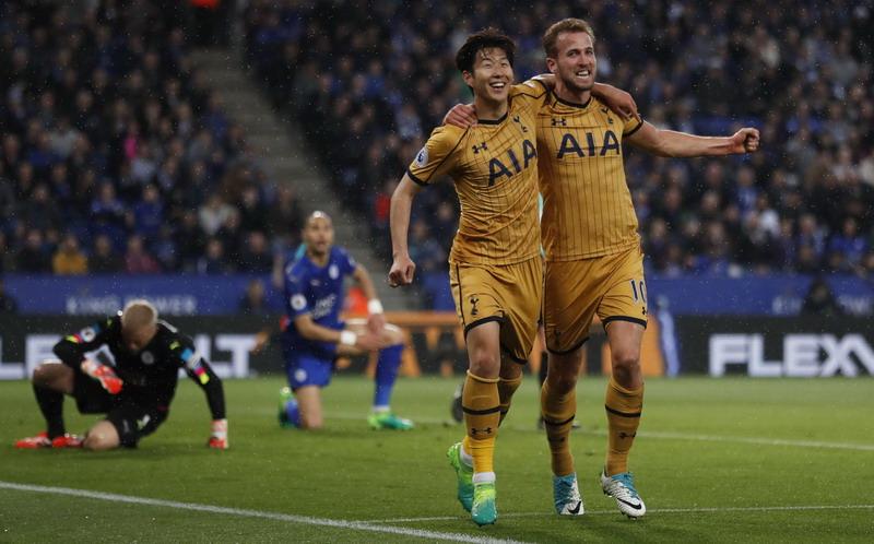 Tottenham saat menghajar Leicester 6-1. (Foto: REUTERS/Carl Recine)